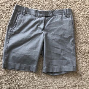 J crew city fit grey shorts size 10